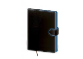Diář denní B6 Flip - černo/modrá