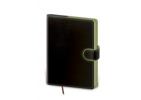 Diář denní B6 Flip - černo/zelená