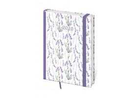 Diář denní  A5 Vario - Lavender s gumičkou