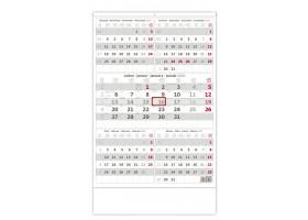 Nástěnný kalendář Pětiměsíční šedý 2020
