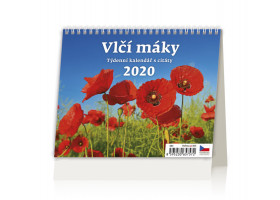 Stolní kalendář Vlčí máky 2020