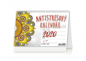Stolní kalendář Antistresový pracovní 2020
