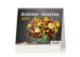 Stolní kalendář MiniMax Květiny/Kvetiny 2020