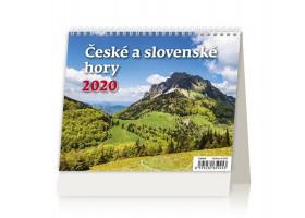 Stolní kalendář Minimax České a slovenské hory 2020