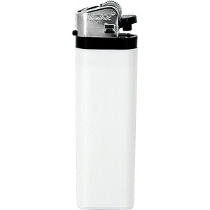 Jednorázový kamínkový zapalovač, bílá