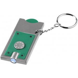 Přívěsek na klíče Allegro s žetonem do vozíku a svítilnou