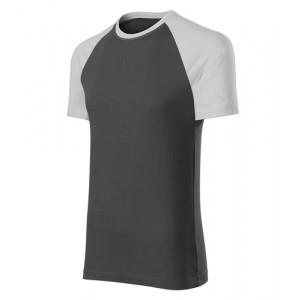 Duo tričko unisex ledově šedá M