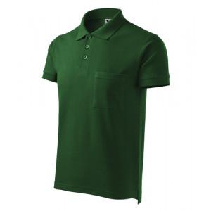Cotton polokošile pánská lahvově zelená M