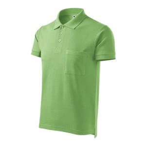 Cotton polokošile pánská trávově zelená S