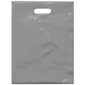 PE taška 30x40 cm, stříbrná