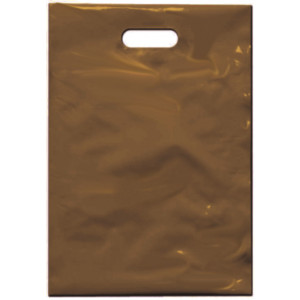 PE taška 35x50 cm, hnědá