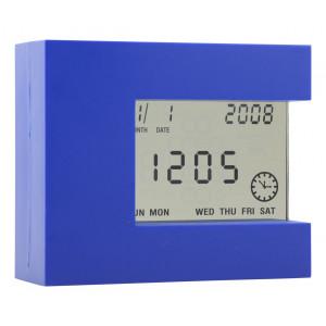 Multifunkční stolní hodiny, královská modrá