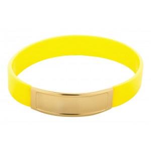 Silikonový náramek, žlutá