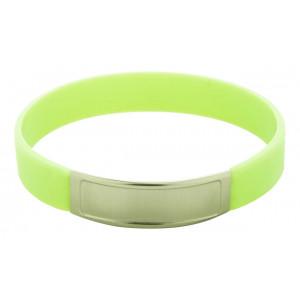 Silikonový náramek, zelená