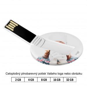 Reklamní USB disk Round card.
