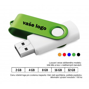 USB flash disk TWISTER WHITE.