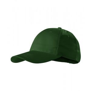Sunshine čepice unisex lahvově zelená nastavitelná