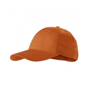 Sunshine čepice unisex oranžová nastavitelná