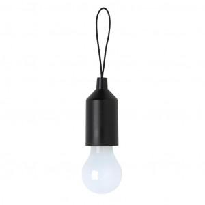 Klíčenka s žárovkou, černá
