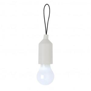 Klíčenka s žárovkou, bílá