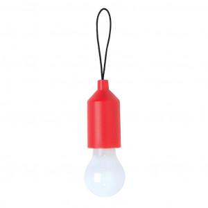 Klíčenka s žárovkou, červená