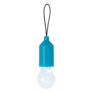 Klíčenka s žárovkou, modrá