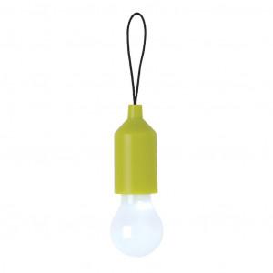 Klíčenka s žárovkou, zelená