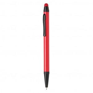 Tenké hliníkové stylusové pero, červená