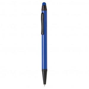 Tenké hliníkové stylusové pero, modrá