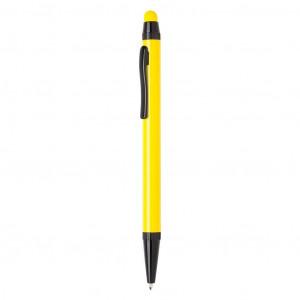 Tenké hliníkové stylusové pero, žlutá