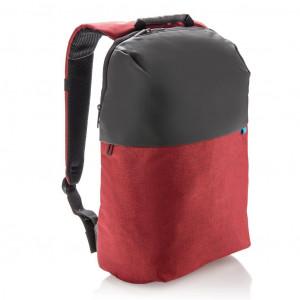 Dvoutónový batoh na notebook, červená