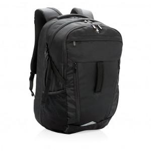 """Outdoorový batoh na 15"""" notebook s pláštěnkou, černá"""