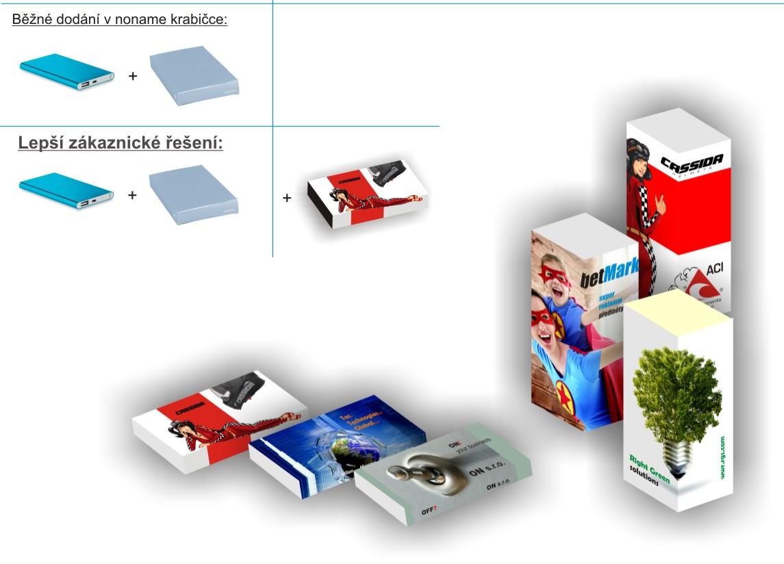 krabička na reklamní předměty